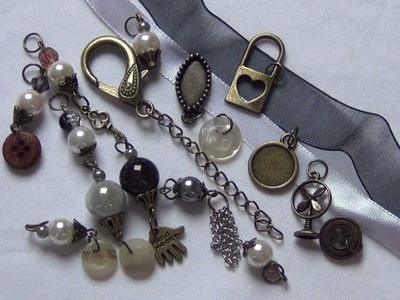 Vintage style charm kit scrapbooking