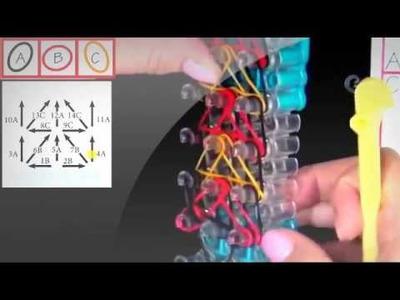 Rainbow Loom Delta Wing Bracelet Lección 59