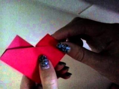 Diy origami hart