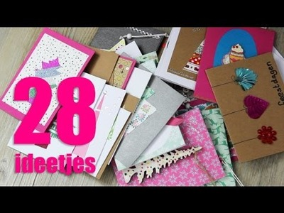 28x DIY kerstkaarten maken!