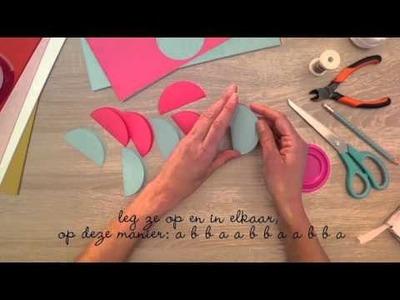 DIY: Libelle Winterfair Papieren Kerstballen