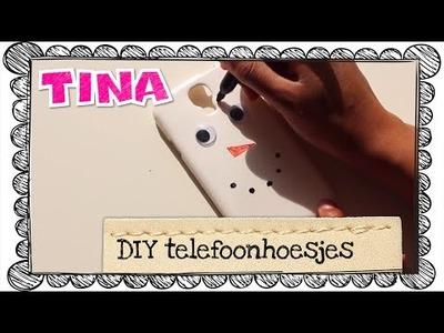 Telefoonhoesjes maken door Tina's DIY-vlogger Valentine
