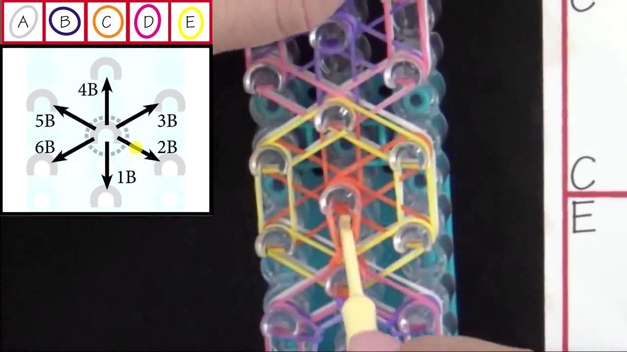 Rainbow Loom Rainbow Blooms Bracelet Lección 57 _ rainbow loom bracelet New 2014