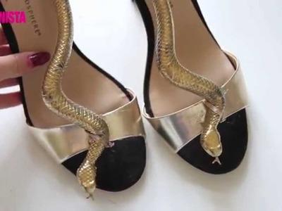 Fashionista DIY - Snake sandals