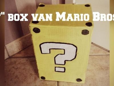 "DIY ""?"" box van Mario Bross  | Machty B"