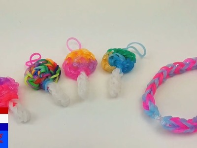DIY rainbow loom lollipop - charm.hangertje (Nederlands) + armband