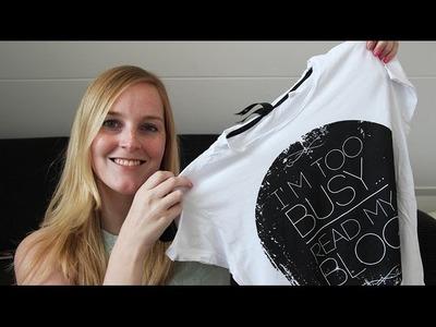 DIY kussen maken van een t-shirt (Zonder naaien!)