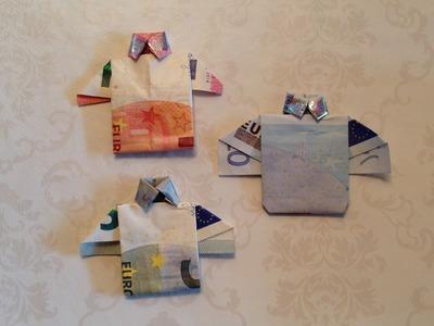 DIY: Geld vouwen, shirt.overhemd | Knutselen | Crea'Bella