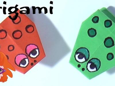 DIY Origami: springende kikker vouwen van papier (moeilijk)
