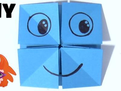 Origami gezichten vouwen van papier