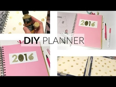 DIY Planner ♥ Kate spade inspired ♥ Hema notitieboek tot planner