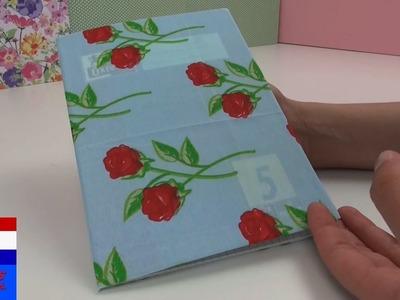 DIY notitieboek.agenda.dagboek.adresboek inpakken in stof – schriften versieren – back to school