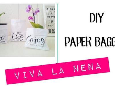 DIY Paper Baggies voor plantjes e.d.