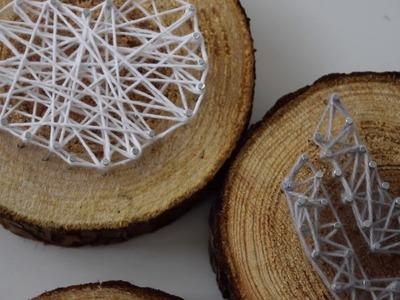 DIY String Art Chevron & Hart | By D