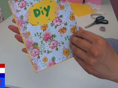 DIY zelf notitieboek.dagboek.adresboek maken en versieren