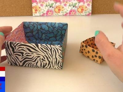 Groot opbergdoosje vouwen   origamitechniek   eenvoudig & snel DIY zelf doosje voor cadeau maken