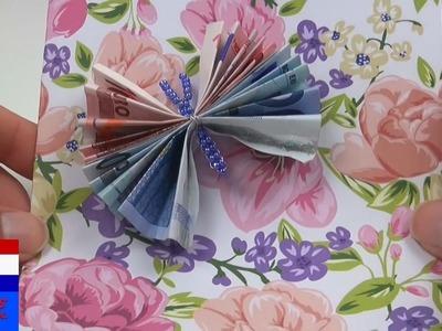 Vlinder van bankbiljetten. origami DIY met geld. papiergeld vouwen handleiding | Nederlands