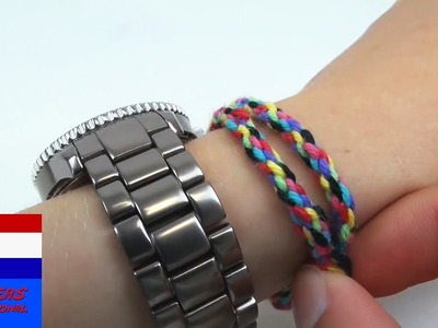 DIY: eenvoudige techniek om een bijzondere armband te maken. vriendschapsbandje