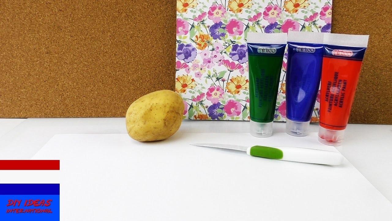 Zelf stempels maken - DIY stempels snijden uit aardappelen