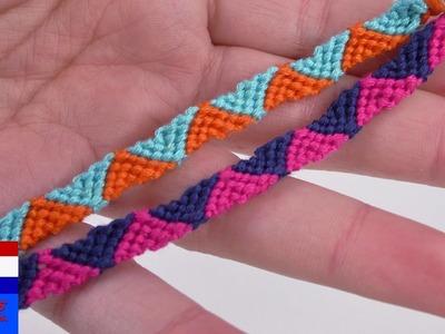 DIY armband knopen | leuk vriendschapsbandje met driehoeken | eenvoudig & snel | trendy