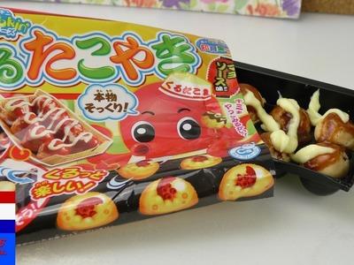 Inktvisballetjes van Kracie Popin' Cookin' | Japans snoep DIY | takoyaki