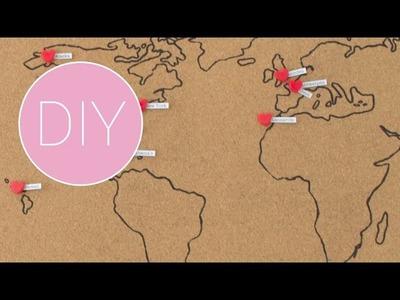 DIY Wereldkaart prikbord