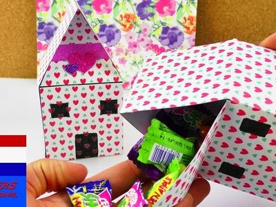 DIY cadeauverpakking | huis om zelf te vullen | snoep, cadeaubon of als speelgoed voor kinderen