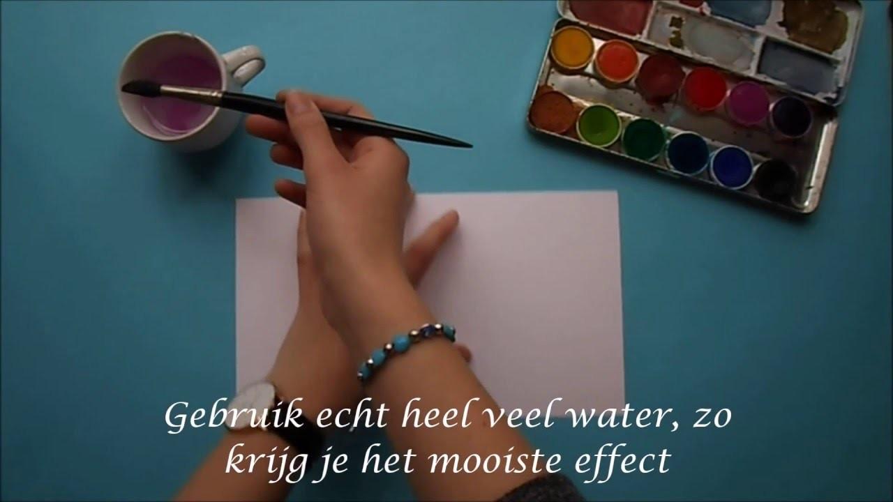 DIY met waterverf!