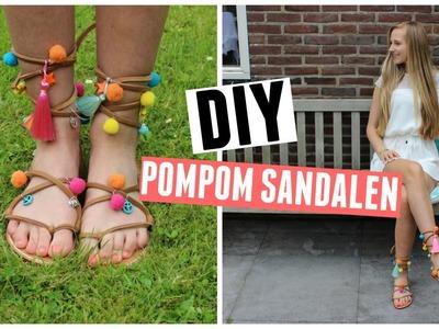 DIY Pompom Sandalen ♥ MADEBYNoelle