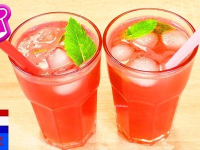 DIY watermeloenlimonade | superlekkere limonade zonder toegevoegde suiker