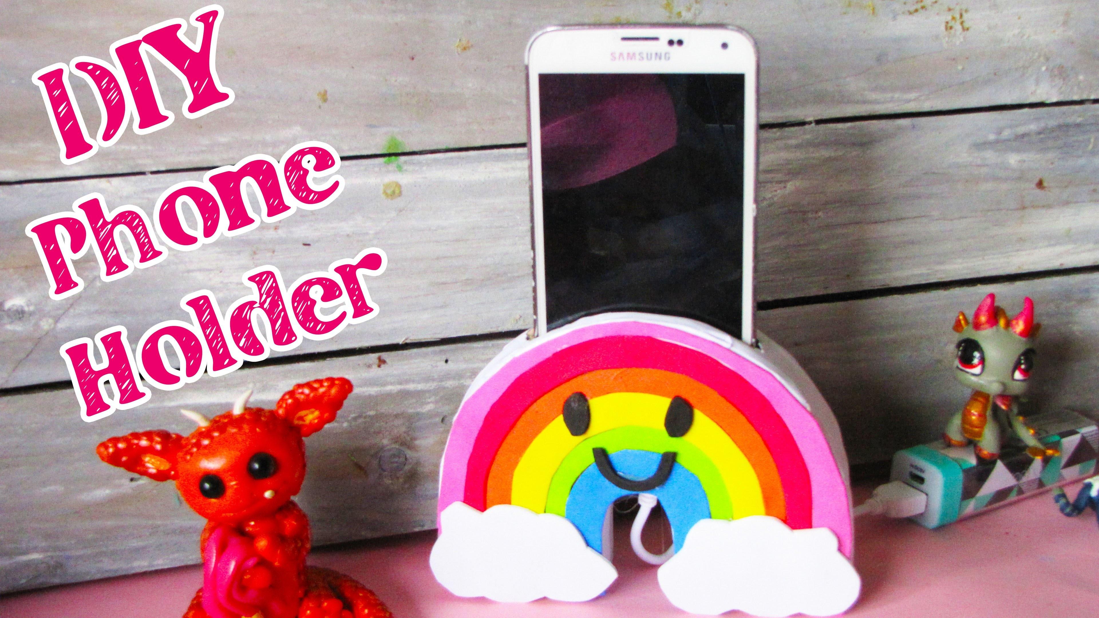 Diy Kamer Decoratie : Diy regenboog telefoon houder kawaii kamer decoratie