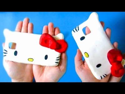 HELLO KITTY PHONE CASE DIY| ZELF EEN TELEFOON HOESJE MAKEN