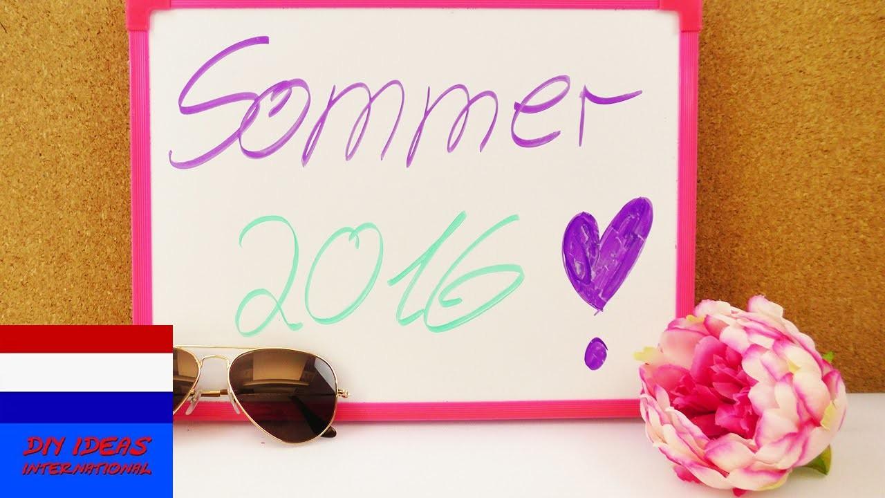DIY thema van de week | 10 ideeën tegen verveling in de zomer | gratis
