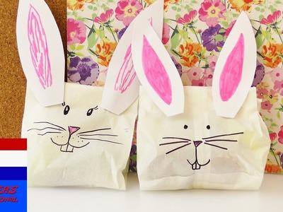 DIY konijnencadeauverpakking | voor kids of voor je beste vriendin | eenvoudig, snel & superschattig
