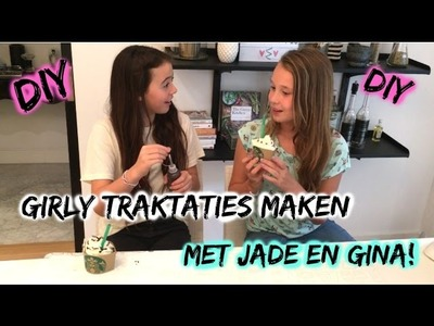 DIY Girly traktaties maken(met oa Starbucks frappuccino cupcakes,icecream cupcakes en cakepops!)