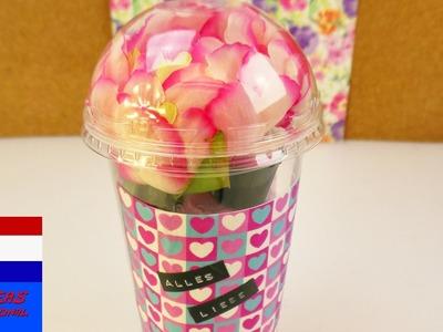 DIY cadeaubox | iets NIEUWS van iets OUDS | supermooi & creatief geschenkidee | washipaper & bloemen
