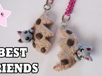 COOKIE BEST FRIENDS NECKLACE DIY | POLYMER CLAY TUTORIAL
