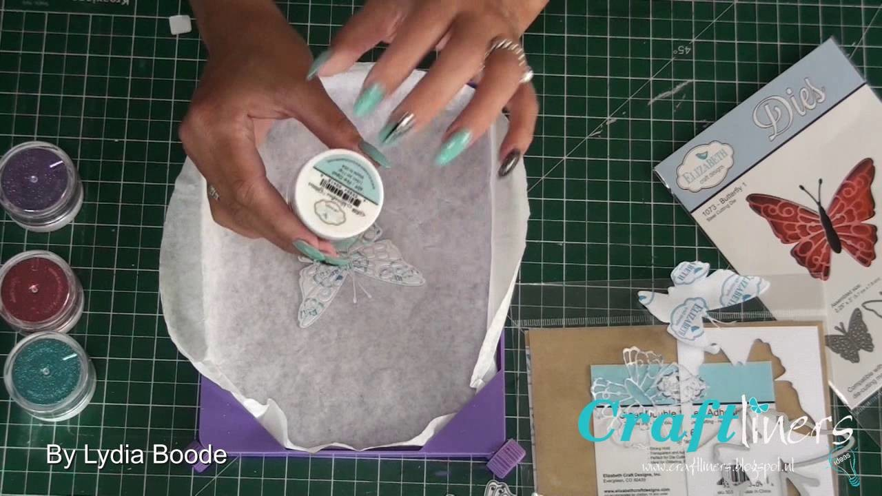 Elizabeth Craft Design Vlinder met Glitter