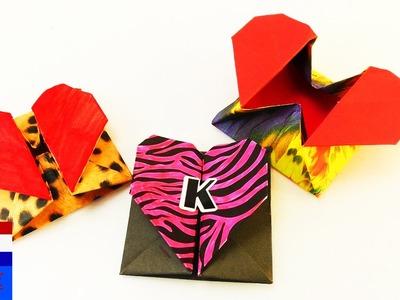 DIY origamibox met hartjessluiting | superschattig cadeau-idee | opbergdoosje & envelop | idee