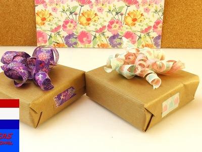 DIY cadeaulint van washitape | leuk decoratie-idee voor cadeaus | eenvoudig & snel