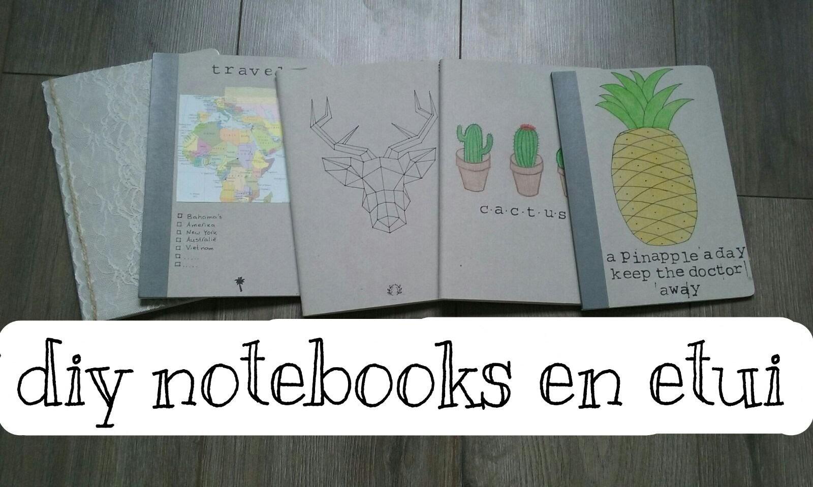 Diy notebooks en etui || 2016 ~ 2017