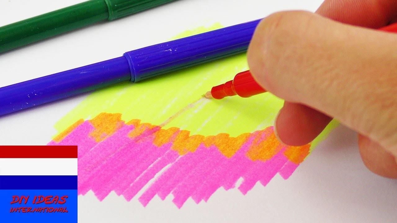 DIY zelf TOVERSTIFTEN maken | magic pen verandert de kleuren | om mee te tekenen
