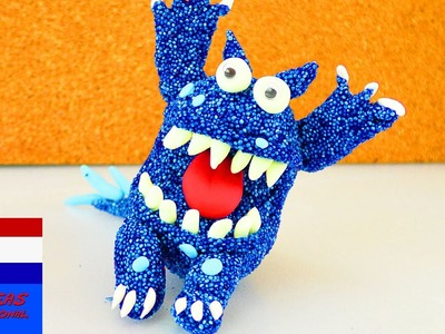 Ugly Monsters van schuimklei | DIY-set met foam clay en silk clay | blauw monster maken
