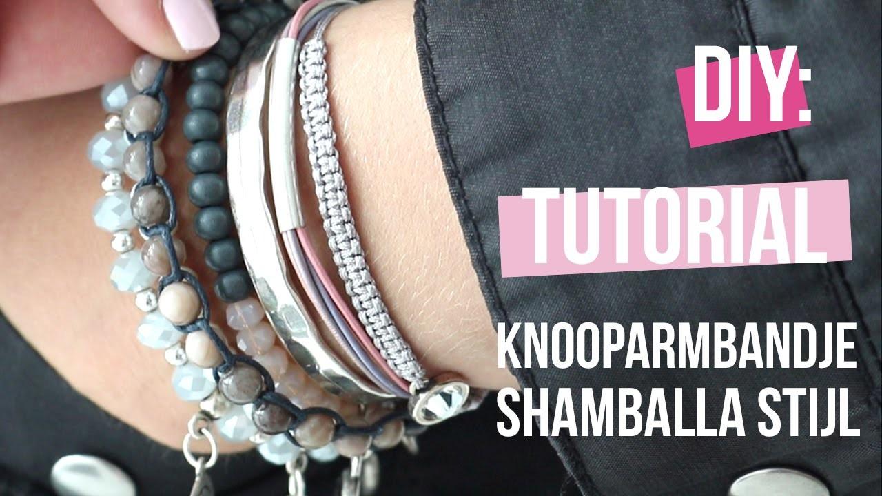 DIY Tutorial: KNOOPARMBANDJE SHAMBALLA STIJL