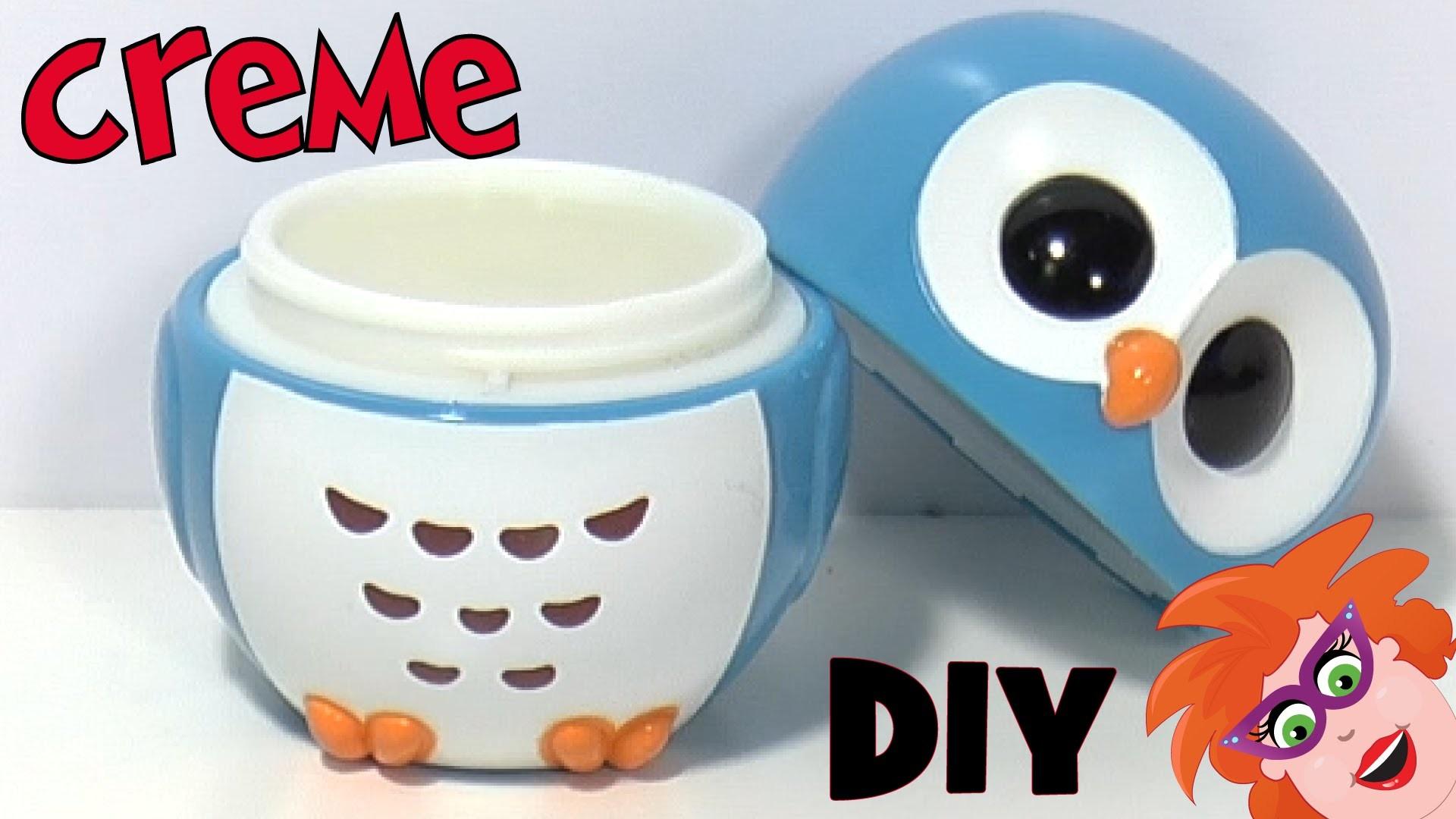 DIY zelf crème maken voor je gezicht of handen. Uiltjespot hervullen.