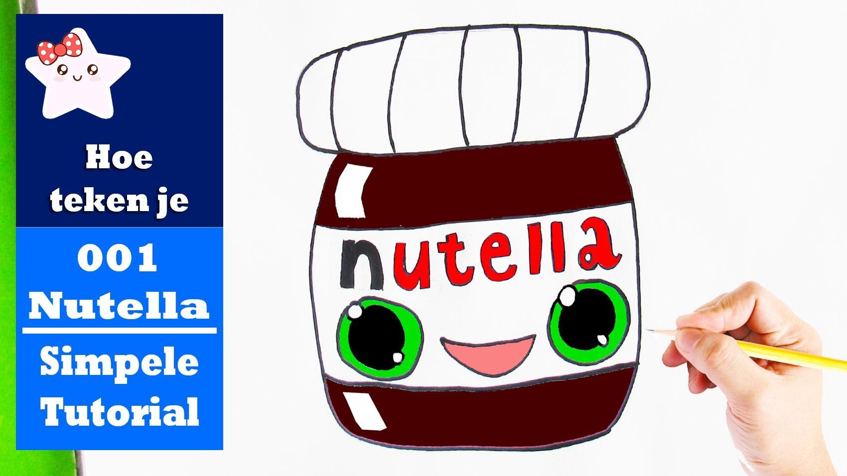 Hoe Teken Je Nutella Pot Kawaii Simpele Teken Tutorial 001