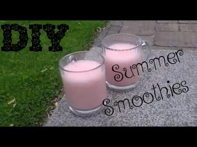 DIY summer smoothies