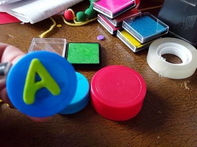 Craft diy stamps|vlog  stempels maken met juf Astrid