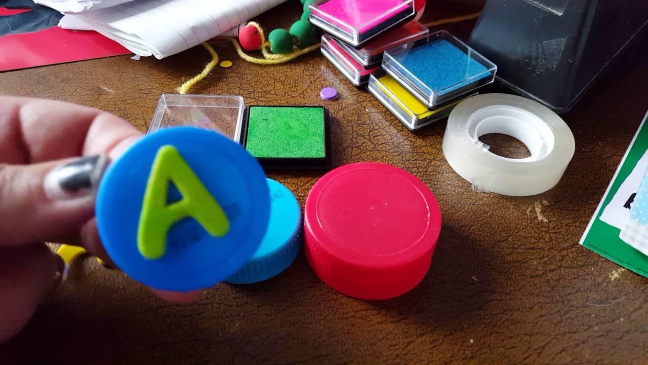 Craft diy stamps vlog  stempels maken met juf Astrid