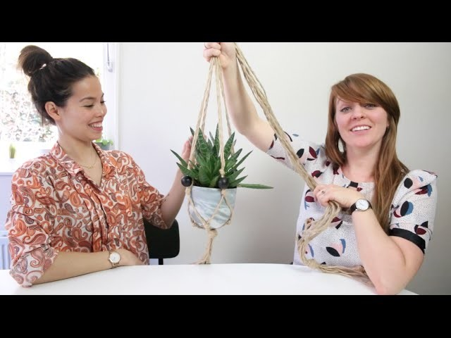 DIY: maak je eigen macramé plantenhanger + WIN er eentje!